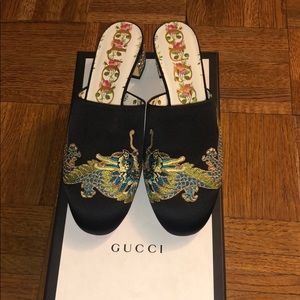 Gucci Mules With Crystal Heel